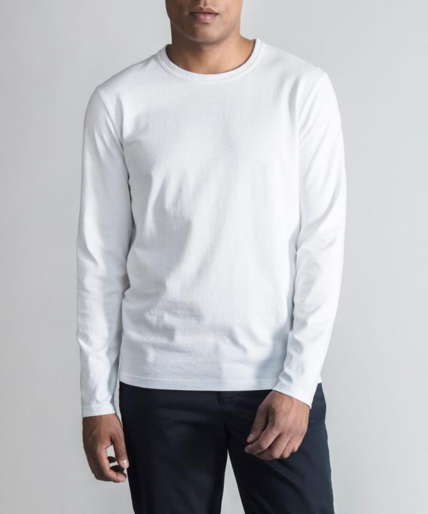 تیشرت آستین بلند سفید